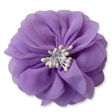 7cm Cherry Blossom LIGHT PURPLE Fabric Flower Applique